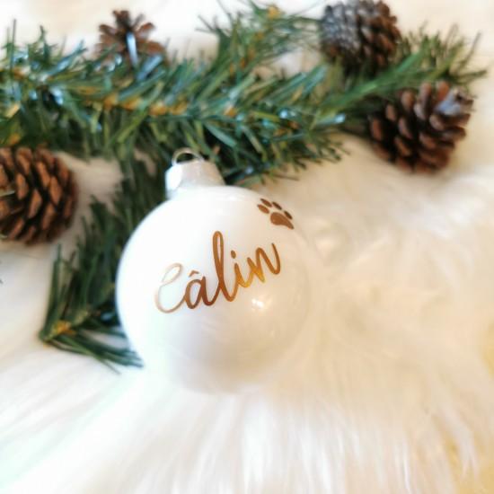 Boule de Noël blanc nacré