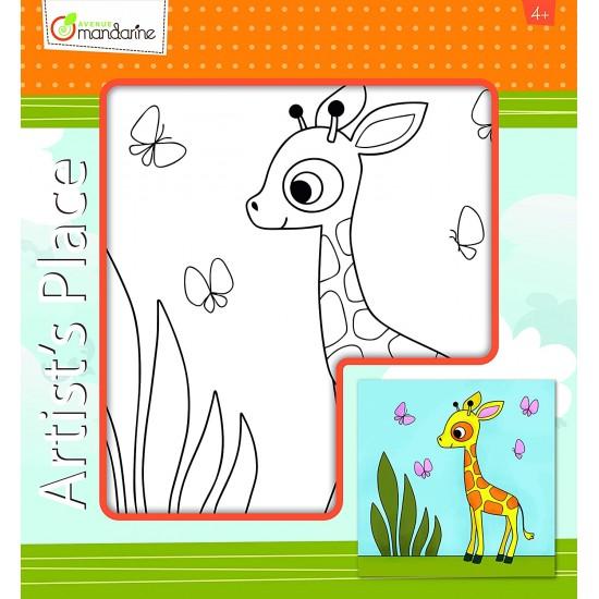Toile à peindre Girafe