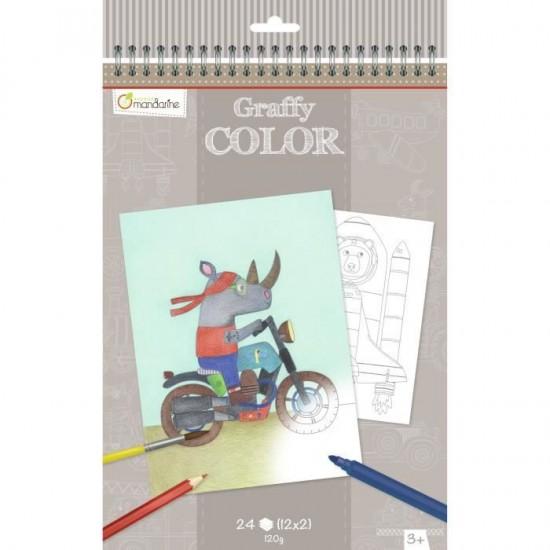 Cahier de Coloriage Bolides
