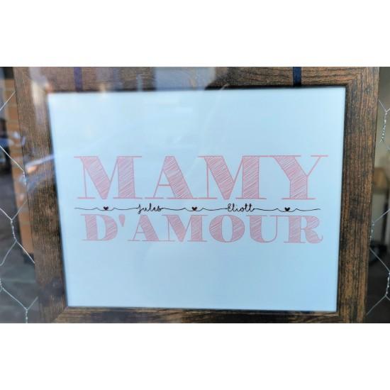 Cadre Mamy d'amour